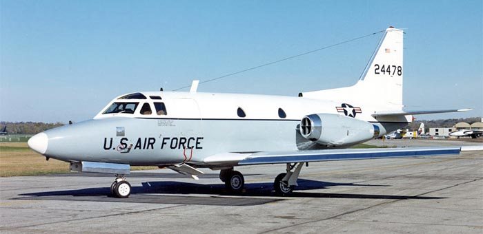 Picture Of North American T 39 Sabreliner Military Trainer