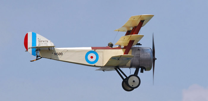 Picture of sopwith triplane ww1 fighter and information