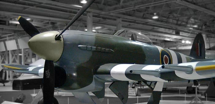 Picture of hawker typhoon ib ww2 fighter and information mn235 the only surviving hawker typhoon on display at hendon raf museum thecheapjerseys Choice Image